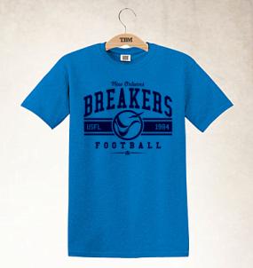 New Orleans Breakers Logo Tee