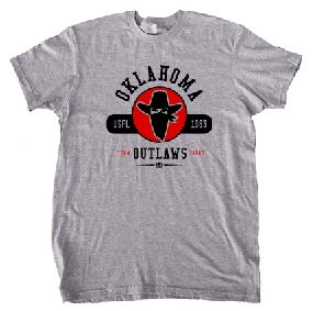 Oklahoma Outlaws USFL Oxford T-Shirt