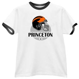 Princeton Tigers Modern Helmet Ringer Tee