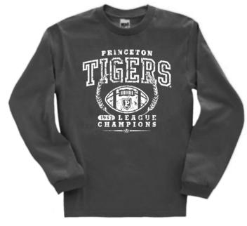 Princeton Tigers 57 Football Champs Long Sleeve Tee