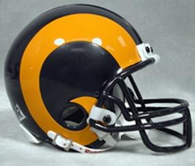 1981-1999 Los Angeles Rams Throwback Mini Helmet