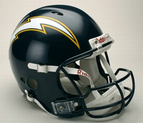 San Diego Chargers Full Size Revolution Helmet