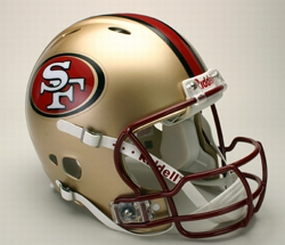 San Francisco 49ers Full Size Revolution Helmet