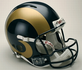 Saint Louis Rams Full Size Revolution Helmet