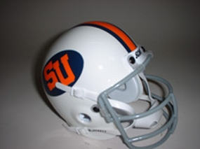 1976 Syracuse Orange Throwback Mini Helmet