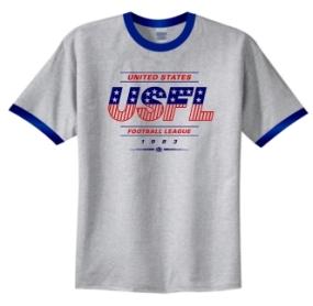 USFL Logo USFL Ringer T-Shirt