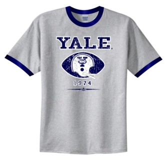 Yale Bulldogs '74 Helmet Ringer Tee