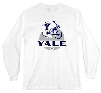 Yale Bulldogs Modern Helmet Long Sleeve Tee