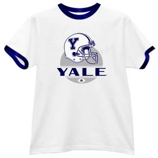 Yale Bulldogs Modern Helmet Ringer Tee