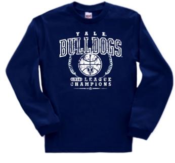 Yale Bulldogs '56 Basketball Champs Long Sleeve Tee