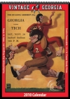 Georgia Bulldogs 2010 Vintage Football Program Calendar