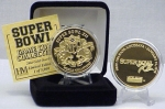 24kt Gold Super Bowl XII flip coin