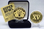 24kt Gold Super Bowl XV flip coin