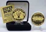 24kt Gold Super Bowl XVII flip coin