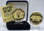 24kt Gold Super Bowl XVIII flip coin