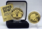 24kt Gold Super Bowl XXI flip coin