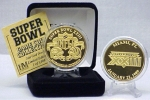 24kt Gold Super Bowl XXIII flip coin