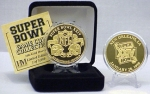 24kt Gold Super Bowl XXIV flip coin