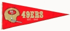 San Francisco 49ers Throwback Pennant