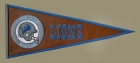 Detroit Lions Pigskin Pennant Traditions Pennant