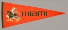Miami Hurricanes Vintage Traditions Pennant