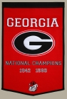 Georgia Bulldogs Dynasty Banner
