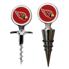 Arizona Cardinals Cork Screw and Wine Bottle Topper Set