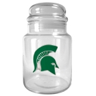 Michigan State Spartans 31oz Glass Candy Jar