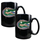 Florida Gators 2pc Black Ceramic Mug Set