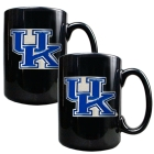 Kentucky Wildcats 2pc Black Ceramic Mug Set