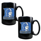 Duke Blue Devils 2pc Black Ceramic Mug Set