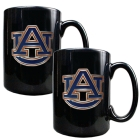 Auburn Tigers 2pc Black Ceramic Mug Set