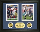 """The Brothers MVP"" Eli and Peyton Manning Super Bowl MVP's Duo Photo Mint"
